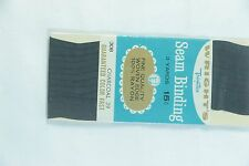 NEW Wright's Trims CHARCOAL 39 Seam Binding Card Making Gift Wrap Scrapbook