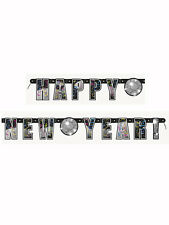 5ft Gold Happy Year Disco Ball Jointed Banner Party Decoration