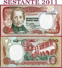 COLOMBIA  -  500  PESOS ORO  12.10. 1985   -  P  423c    -    FDS / UNC