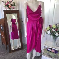Paco  pinky purple wrap skirt size 8 dress Womens party cocktail wedding formal