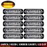 10 X 6LED Car Truck Emergency Beacon Warning Hazard Flash Strobe Light Amber 12V