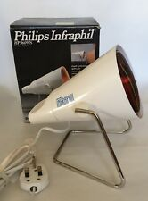 Vintage Philips Infraphil HP3609/s Infra-Red  Health Heat Lamp Boxed W Manual