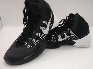 NIKE Men's Size 9.5 Lunarlon HYPERDUNK Sneakers Black White Basketball Shoes