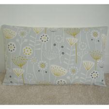 "20""x12"" Oblong Cushion Cover Saffron Yellow Grey Seedheads Retro Silver 12x20"