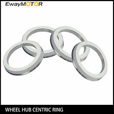 4PC Alloy Aluminum Wheel Spigot Spacers Hub Centric Rings 72.6mm OD to 56.1mm ID