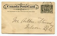 Canada BC British Columbia - Nanaimo 1897 Squared Circle - Jubilee PC to Nelson