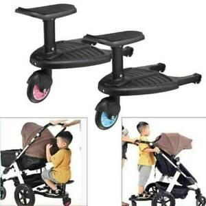 Buggy Board mit Sitz Kiddy Board Trittbrett für Kinderwagen Rollbrett