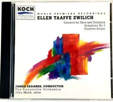 Zwilich: Concerto Grosso; Symphony No3 Oboe Concerto Classical CD1995, Koch Int.