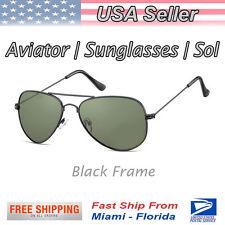 Classic Aviator Sunglasses Blk | Lentes de sol Aviador Negro