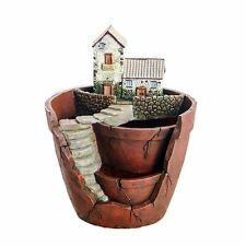 Creative Plants Pot Flower Decorated with Mini Hanging Fairy Garden Sweet House