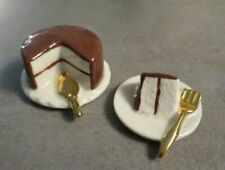 Vintage Salt & Pepper Shakers Miniature Cake & Slice (Arcadia ?)