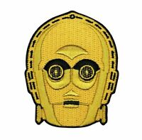 Disney Star Wars C3-PO Head Patch Droid Officially Licensed Iron On Applique