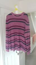Mens ASOS Pink Heavyweight Knit Jumper Size Large
