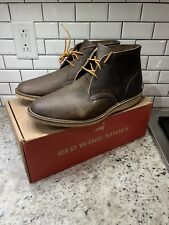 New 2nds Red Wing 10.5 Weekender Chukka Boot Concrete Leather 3324 Made In USA