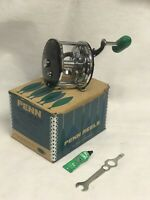 Vintage Fishing Penn Long Beach Metal Spool Star Drag In Box