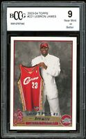 2003-04 Topps #221 LeBron James Rookie Card BGS BCCG 9 Near Mint+