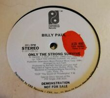"""RARE! BILLY PAUL - ONLY THE STRONG SURVIVE 12"""" ASD400 PHILADELPHIA INT 1977 VG++"""
