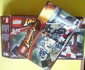 LEGO. INDIANA JONES BOX & ASSEMBLY BOOKLET #7620. (No Bricks or Parts) (2008)