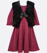 NWT girls BONNIE JEAN 2 pc  DRESS & VEST Set  Sz 7 $80 tag High QUALITY