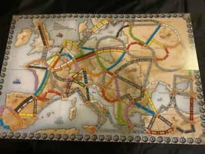 New Ticket to Ride Europe Replacement Game Board Only