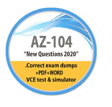 NEW AZ-104 Dumps,VCE test ,246 questions, PDF,Word,VCE exam + 3.5gb video course