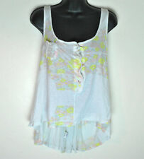 Seneca Rising Cotton Floral Button Chest Tank Top size 1 Made in the USA