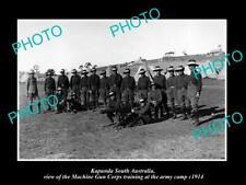 OLD 8x6 HISTORIC PHOTO OF KAPUNDA SA THE WWI MACHINE GUN CORPS TRAINING c1914