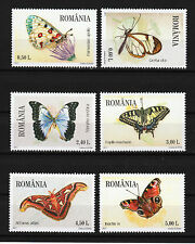Butterflies set of 6 stamps mnh 2011 Romania #5248-53
