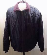 Patagonia Jacket Nylon Navy Shell + Purple Capilene Fleece Lining Large XLNT vtg