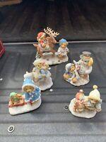Cherished Teddies Lot Of 5 Winter Time Bears INGRID,NILS,MARY, MITCH,ERIC,SVEN