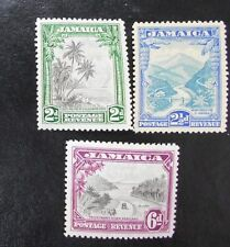 JAMAICA 1932 2d 2.5d 6d SG 111 112 113 Sc 106 107 108 MNH 2.5d gum toned