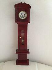 BNIB Dolls House Miniature Mahogany Tall Hall Clock