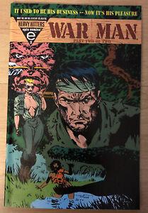 1993 War Man #2 Trading Card Attached, Sharp Cover, Dixon & Zanotto, Mid-Grade