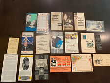 Lot Of Miscellaneous Ephemera Paper Christmas Seals Postcards Pamphlets
