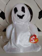 """TY Beanie Baby ~ SHEETS 7.5"""" Halloween Ghost ~ NEW with Tags Retired PE Pellets"""