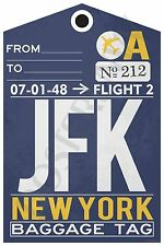 JFK - New York Airport  Baggage Tag - NEW Travel POSTER (tr482)