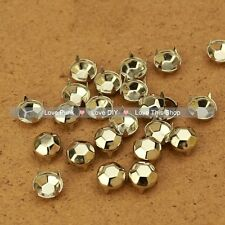 200pcs 9mm Silver Round Rivet Spike Punk Bag Belt Leathercraft Ball Rivets
