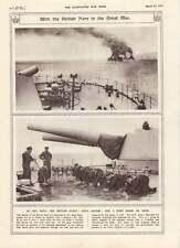 1917 British Fleet Holy-stoning The Decks