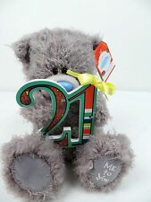 Carte Blanche- Me to You- 21st Birthday Plush Bear with Plaque- 7 inch- BNWT