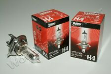 H4 Halogen Bulbs VALEO +50% Light 12V 55W-60W p43t-38 2psc