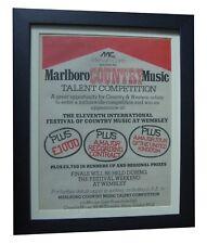 MARLBORO+Country Music+POSTER+AD+RARE+ORIGINAL 1978+FRAMED+EXPRESS GLOBAL SHIP