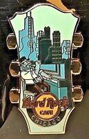 Hard Rock Cafe Chicago Pin Hidden Guitar Series 2018 New LE # 100159