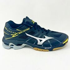 Mizuno Wave Lightning Z Black Silver Yellow Indoor Volleyball Shoes