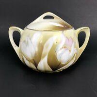 MW Co Antique R&S Germany Tulip Biscuit Cracker Jar Art Nouveau Deco Prussia