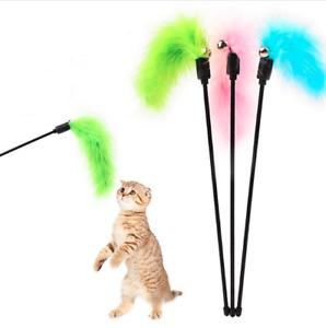 Kitten Cat Feather Toy Premium Pet Toy Turkey Tease Cat Stick Random Color