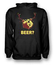 BEER Bear Funny Drinking - Mens Hoodie