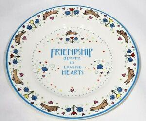 "Kathy Davis Designs Friendship Blooms in Loving Hearts Plate 8"""