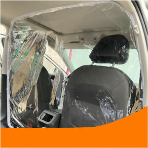 1x Car Taxi 55x70'' PVC Film Clear Plastic Sheet Partition Prevent Dust Droplets