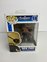 Funko POP!Marvel The Avengers - NICK FURY #14 W/Protector VAULTED AUTHENTIC