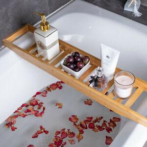 Badewannenablage Badewannenbrett Wannenablage Aufsatz Tablett aus Bambus 70CM